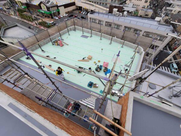 防水工事・株式会社APEX・東京都・立川市・塩ビシート防水機械的固定工法